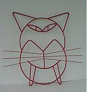 Kitty Sculptures - Red Cat by Antonin Gauthier