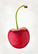 Fruit Paintings - Red Cherry  by Danny Smythe