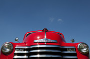 Chevrolet Pickup Truck Posters - Red Chevrolet 3100 1953 Pickup  Poster by Tim Gainey