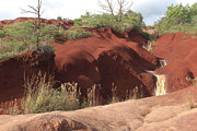 Waters Art - Red Clay Waterfall by Deborah Smolinske