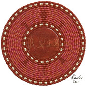 Coral Beads Posters - Red Coral Poster by Douglas K Limon