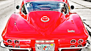 Oldtimer Originals - Red Corvette by Dieter  Lesche