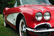 Red Corvette Print by John Kiss