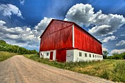 Wooden Bridges Photos - Red Country Barn by Adam Jewell