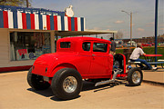 Ford Coupe Prints - Red Coupe Print by Gary Gunderson