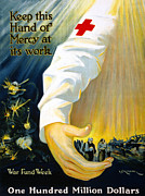 Fundraising Framed Prints - Red Cross Poster, 1918 Framed Print by Granger