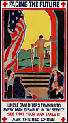 Crutch Framed Prints - Red Cross Poster, 1919 Framed Print by Granger