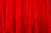 Shiny Fabric Framed Prints - Red Curtain - Featured 3 Framed Print by Alexander Senin