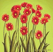 SophiaArt Gallery - Red Daisies