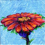 Regina Valluzzi - Red daisy 2 by 2 inch miniature