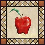 Apples Art - Red Delicious Apple by Linda Mears