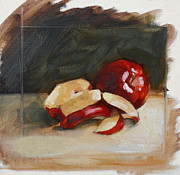 Nature Study Paintings - Red Delicious PRICE REDUCTION by Alison Schmidt Carson