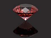 Carat Digital Art Posters - Red diamond ruby Poster by Borislav Marinic