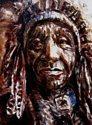 Tribes Painting Prints - Red Dog Print by Mark Hartung