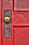 Knob Prints - Red Door Print by Benanne Stiens