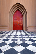 Marble Art - Red Door - D001859 by Daniel Dempster