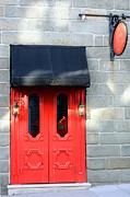 Urban Photo Originals - Red Door Red Sign by Sophie Vigneault