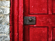 Knob Photo Prints - Red Door Print by Steven  Michael