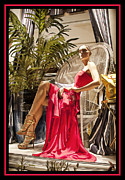Rodeo Drive Framed Prints - Red Dress Framed Print by Chuck Staley
