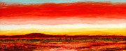 Wa Paintings - Red Earth Red Sky by Scott Jackson