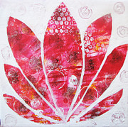 Louise Gale - Red energy lotus in bloom