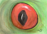 Red Eye Framed Prints - Red Eye Treefrog Wildlife Animal Art Framed Print by Cathy Peek