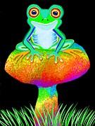 Nick Gustafson - Red Eyed Tree Frog and Mushroom