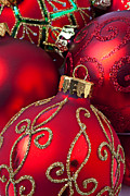Red Photos - Red fancy Christmas ornament by Garry Gay