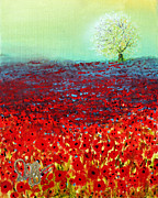 Field Paintings - Red Fields by David Kacey