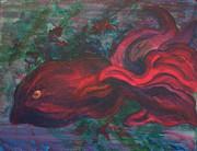 Red Fish Print by Sheri Lauren Schmidt