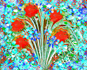 Sue Holman - Red Flower Garden