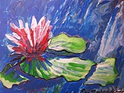 Lavender Drawings Originals - Red Flower Impressionism by Eric  Schiabor
