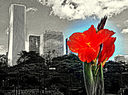Red Flower Print by Scott Dixon