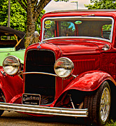 Ron Roberts Photography Prints - Red Ford Coupe Print by Ron Roberts