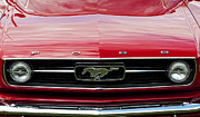 Motor Metal Prints - Red Ford Mustang Metal Print by Tim Gainey