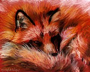 Fox Pastels Prints - Red Fox Print by Michaeline McDonald