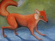 Fox Painting Prints - Red Fox Print by Reb Frost