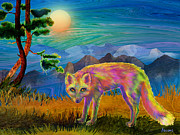 Fox Digital Art - Red Fox by Teresa Ascone