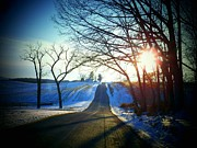 Winter Roads Photos - Red Gate Road by Joyce  Kimble Smith