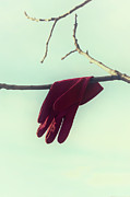 Glove Framed Prints - Red Glove Framed Print by Joana Kruse