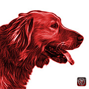Golden Retriever Mixed Media - Red Golden Retriever - 4047 FS by James Ahn