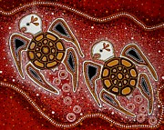 Aboriginal Art Paintings - Red Goolil Dreaming by Darlene Devery