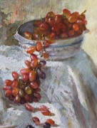 Grapes Paintings - Red Grapes by Ylli Haruni