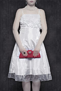 Handbag Photo Posters - Red Handbag Poster by Joana Kruse
