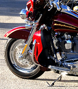 Barbara Snyder Prints - Red Harley Print by Barbara Snyder