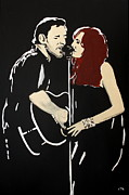 Bruce Springsteen Painting Prints - Red Headed Woman Print by Carmencita Balagtas