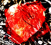 Lovable Digital Art - Red Heart by Andrea Barbieri