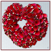Victoria Harrington - Red Heart Wreath