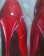 Cellphone Painting Posters - Red Heels Poster by Samantha Black