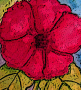 D Whitehurst - Red Hibiscus Close Up